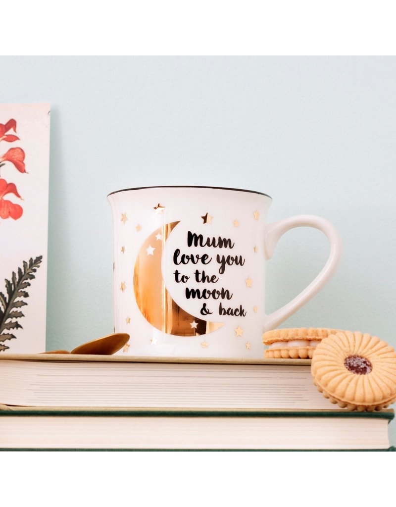 Sass & Belle mug - mum i love you to the moon and back