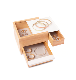 Umbra jewelry box - stowit (white/natural) (3)