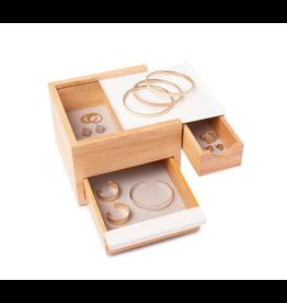 Umbra juwelenhouder - stowit (wit/natural)