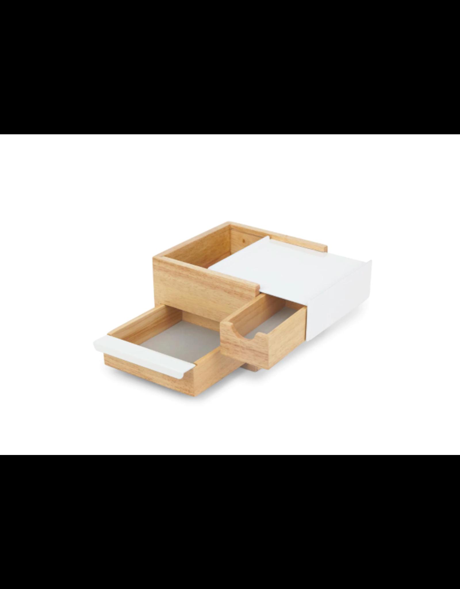 Umbra jewelry box - stowit (white/natural)