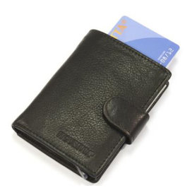 Figuretta kaart beschermer - luxe leer (nappa zwart)