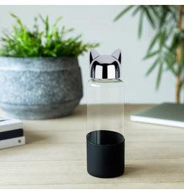 fles - kat (zwart)