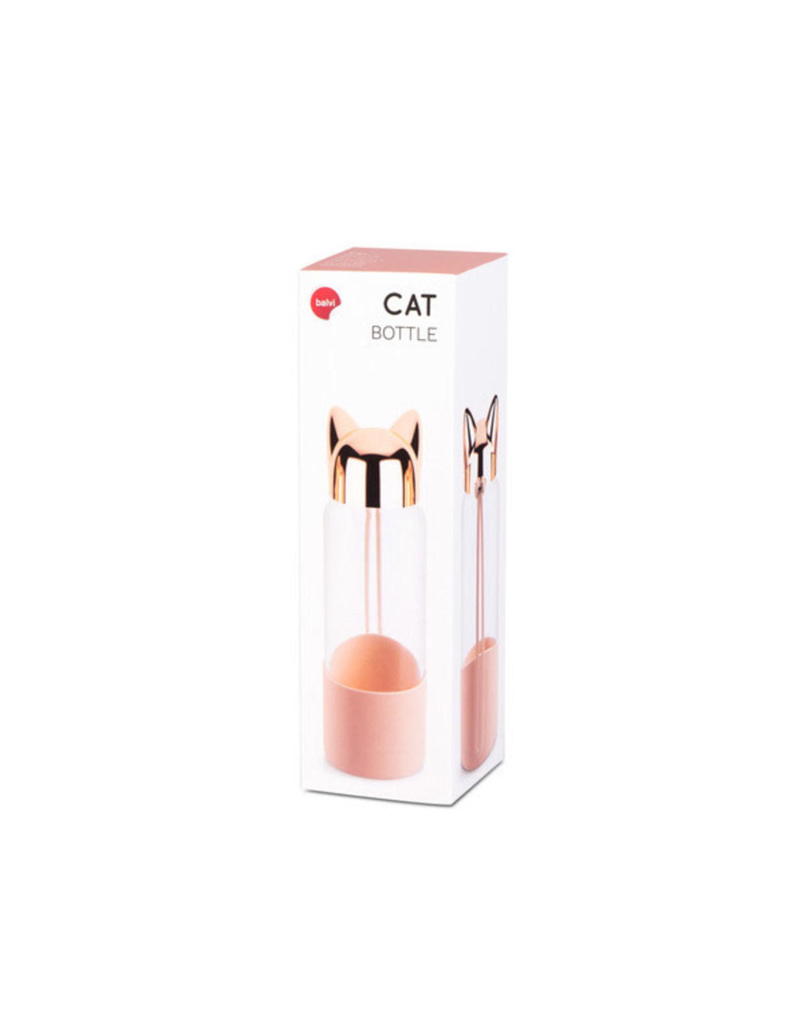 bottle - cat (rose gold)