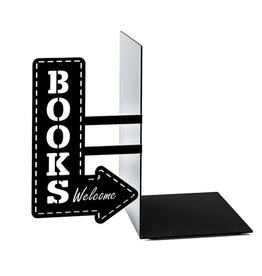 Balvi bookend - bookshop (black)