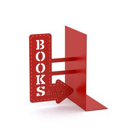Balvi bookend - bookshop (red)