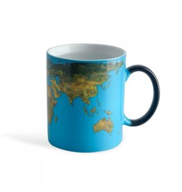 Balvi heat changing mug - world map