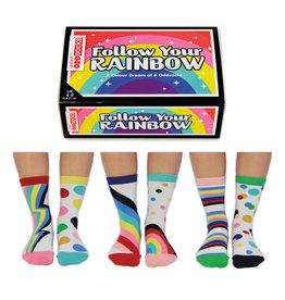 OddSocks sokken - follow your rainbow