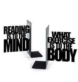 Balvi boekensteunen - mind exercise (zwart)
