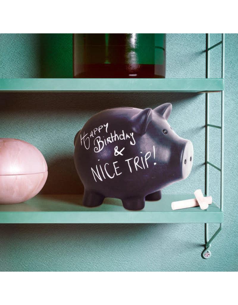Balvi spaarpot - varken (zwart)