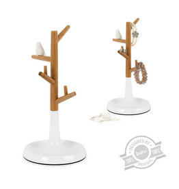 Balvi jewelry stand - tree (bamboo/white)