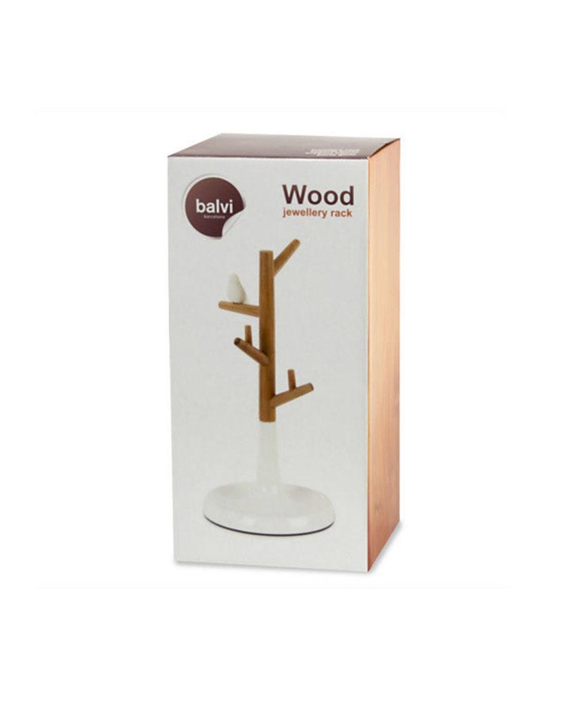 Balvi jewelry stand - tree (bamboo/white)