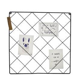 HouseVitamin memo rek - vierkant (zwart)