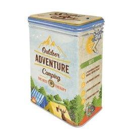 blikken doos met clip - outdoor adventure