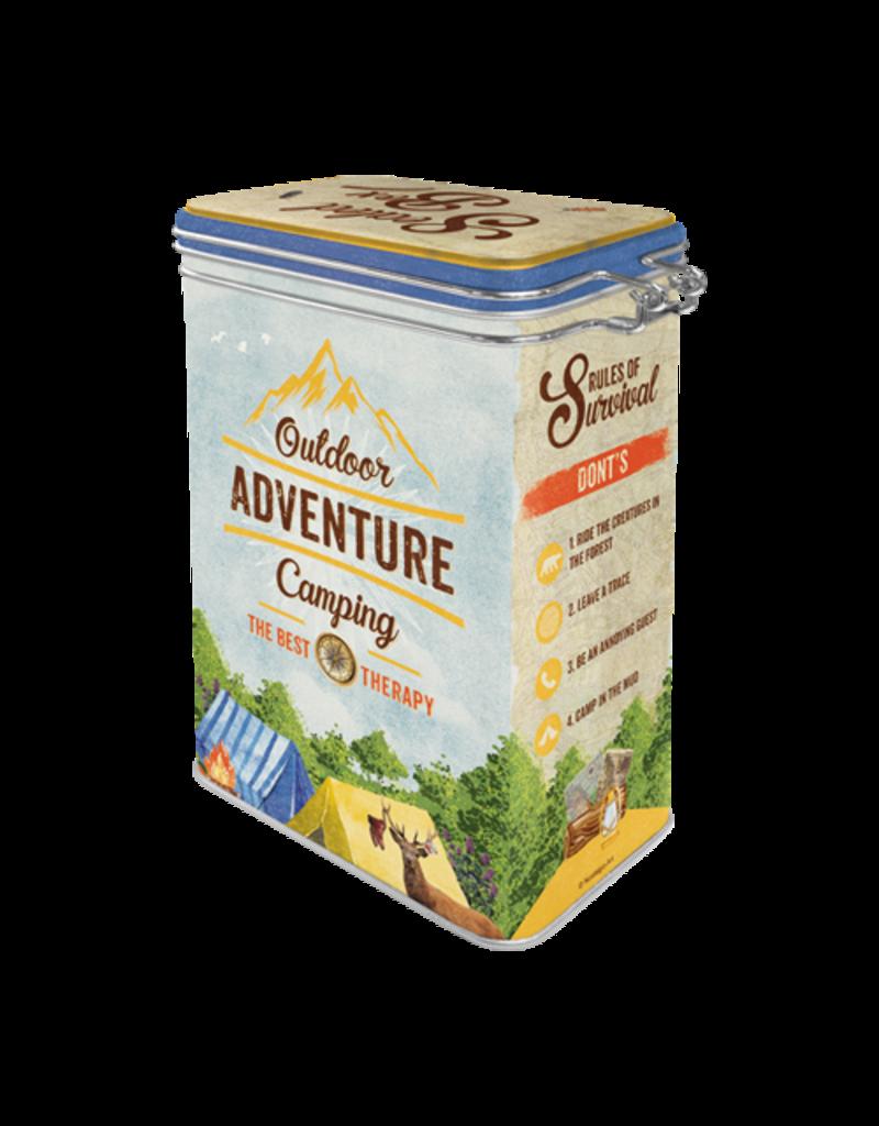 Nostalgic Art clip top box - outdoor adventure
