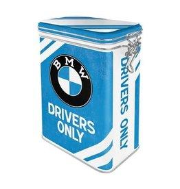 Nostalgic Art blikken doos met clip - BMW drivers only