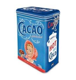 Nostalgic Art blikken doos met clip - cacao