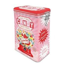 blikken doos met clip - candy sweet shop
