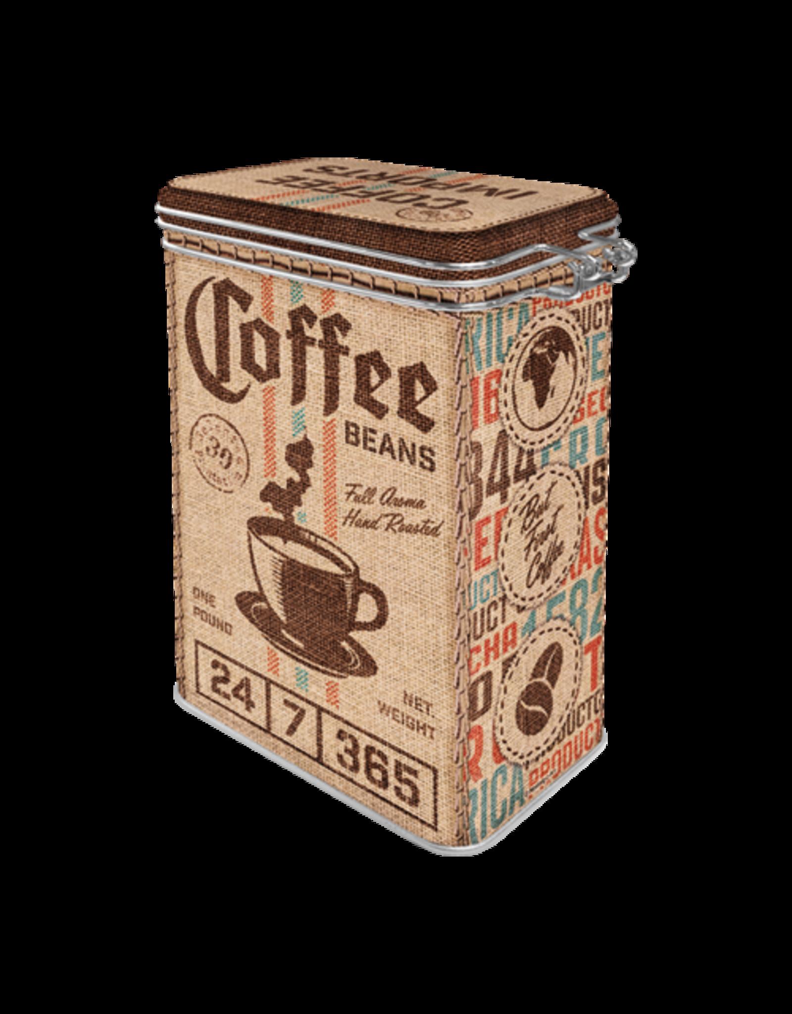 clip top box - coffee beans