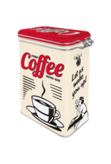 Nostalgic Art clip top box - coffee served here