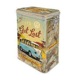 blikken doos met clip - let's get lost