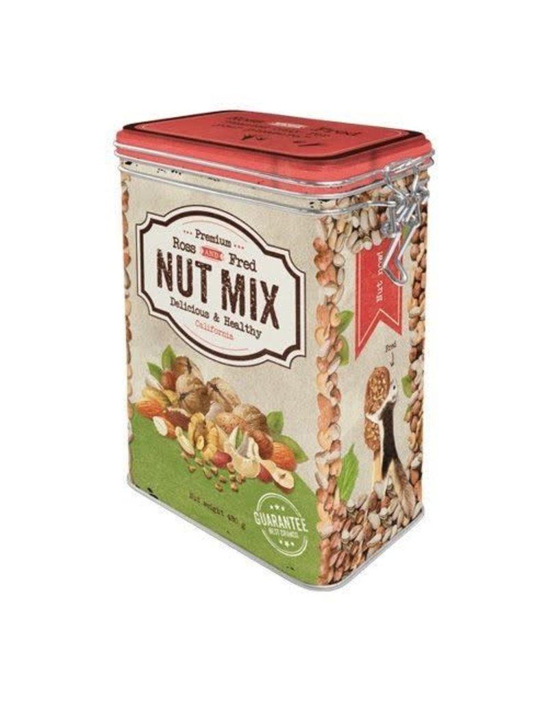 Nostalgic Art blikken doos met clip - nut mix