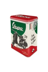 Nostalgic Art blikken doos met clip  - vespa