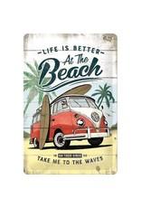 Nostalgic Art bord  - beach (medium)
