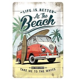 Nostalgic Art sign - beach (medium)