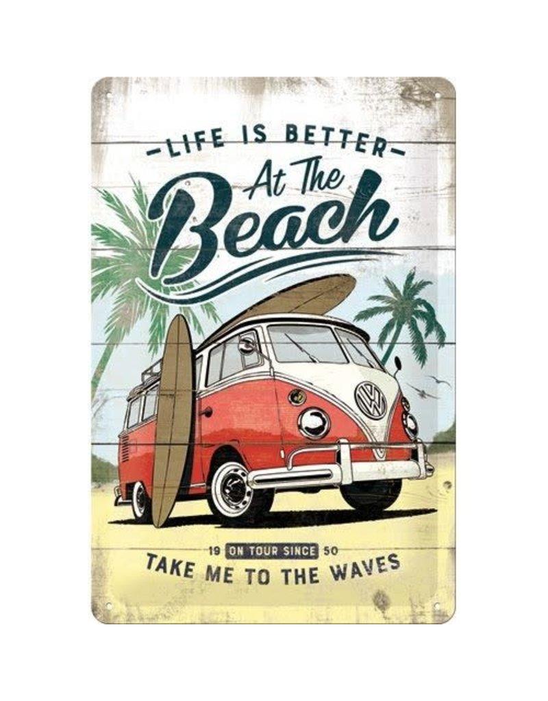 Nostalgic Art sign - beach (medium)