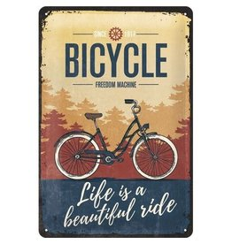 Nostalgic Art bord - bicycle (medium)