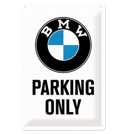 Nostalgic Art bord - BMW parking only (medium)