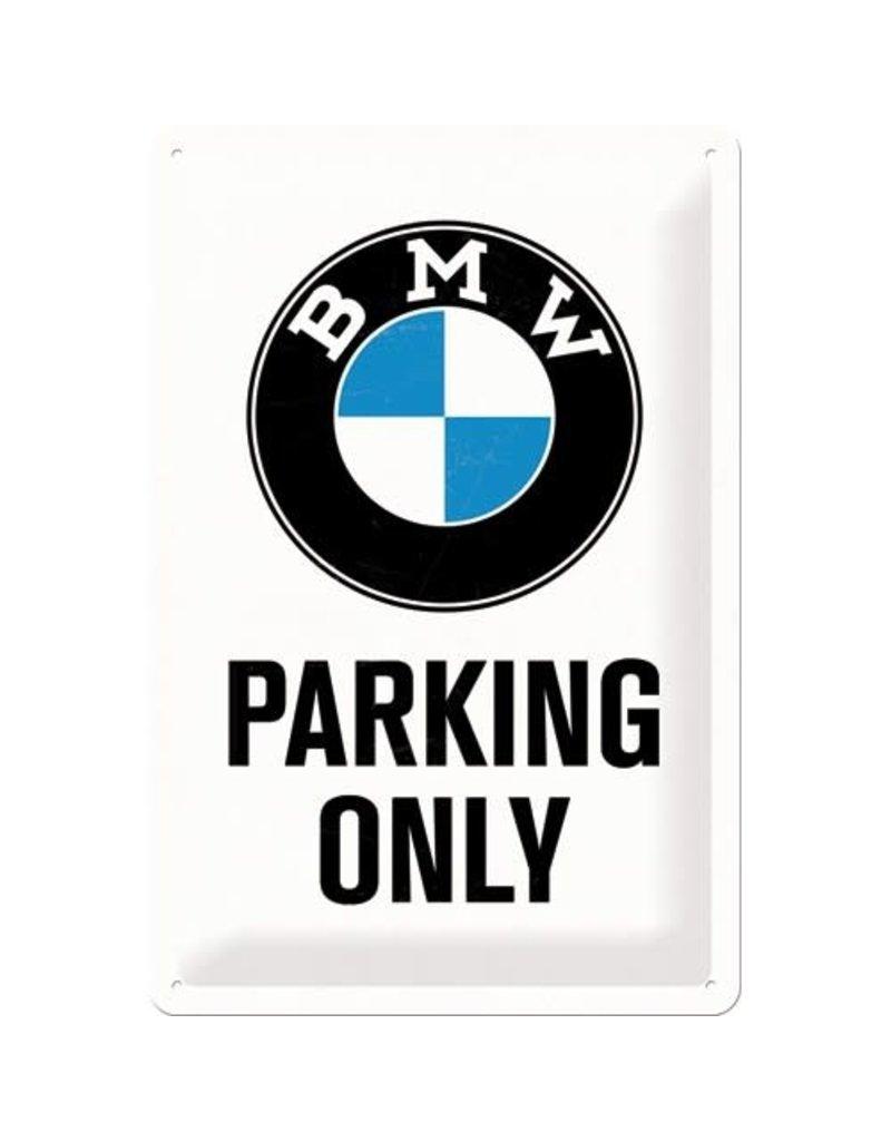 Nostalgic Art sign - BMW parking only (medium)