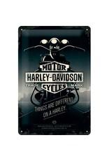 Nostalgic Art bord - Harley motor (medium)