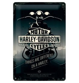 Nostalgic Art sign - Harley motor (medium)