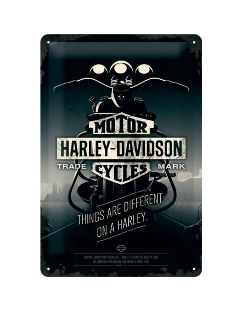 Nostalgic Art sign - Harley motor (medium)
