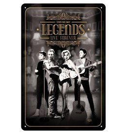 Nostalgic Art sign - legends (medium)