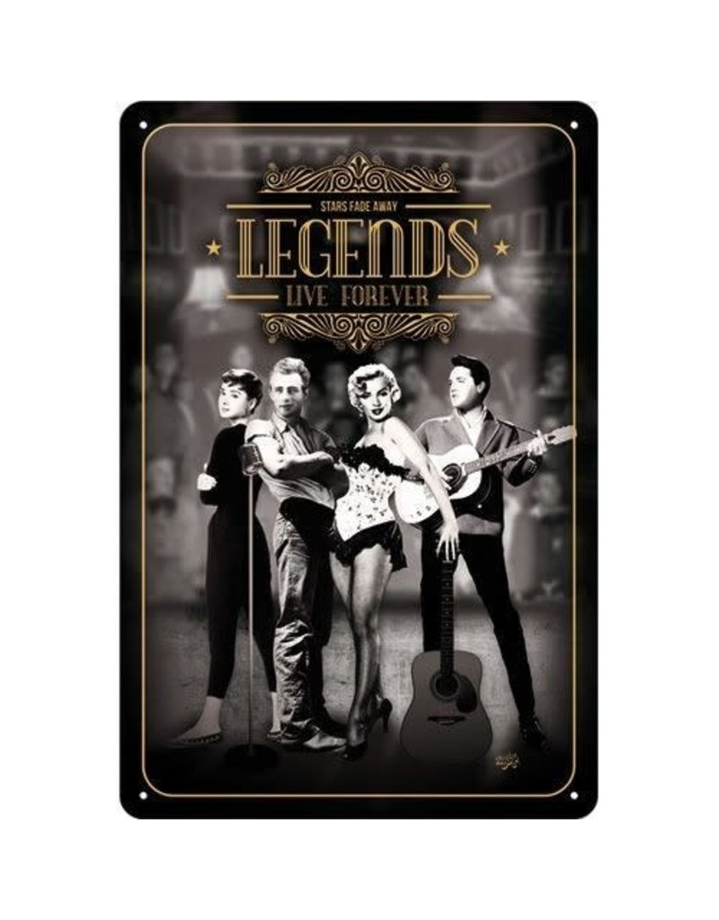Nostalgic Art bord - legends (medium)