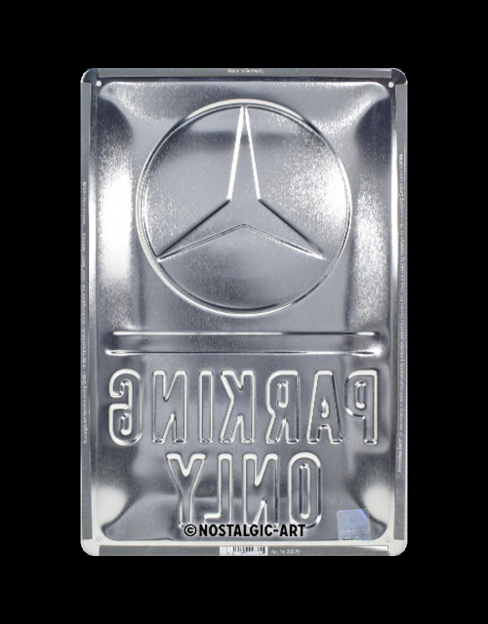 sign - Mercedes parking only (medium)
