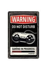 Nostalgic Art sign - warning do not disturb (medium)