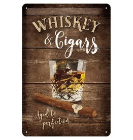 Nostalgic Art sign - whiskey & cigars (medium)