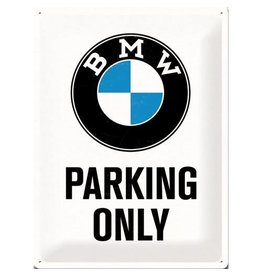 Nostalgic Art bord - BMW parking only (large)