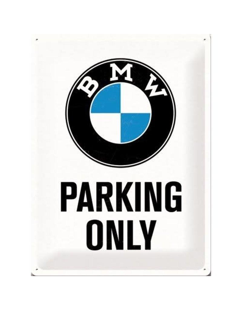 Nostalgic Art bord - BMW parking only (large)