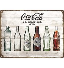 Nostalgic Art bord - Coca Cola bottles (large)
