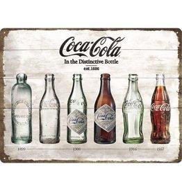 Nostalgic Art sign - Coca Cola bottles (large)