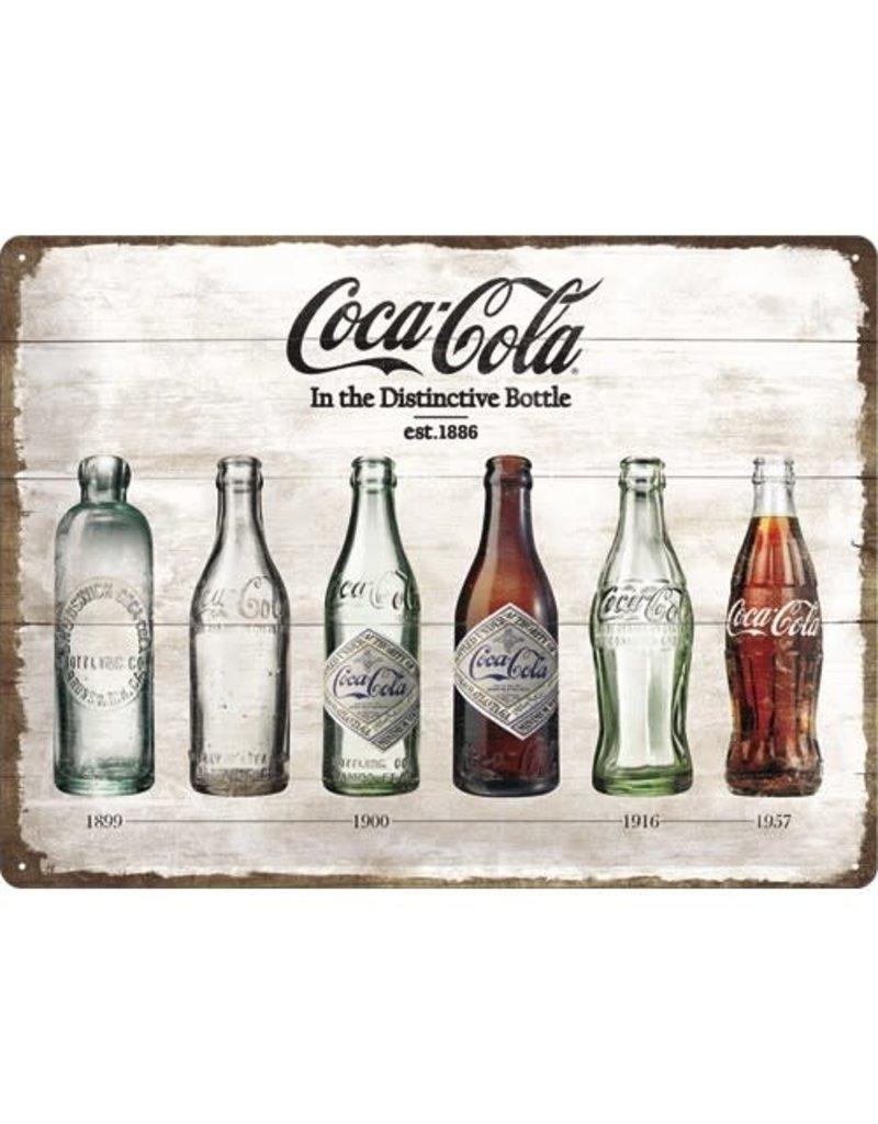 Nostalgic Art bord - Coca Cola bottles (large)