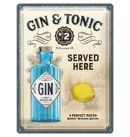 Nostalgic Art sign - gin tonic (large)