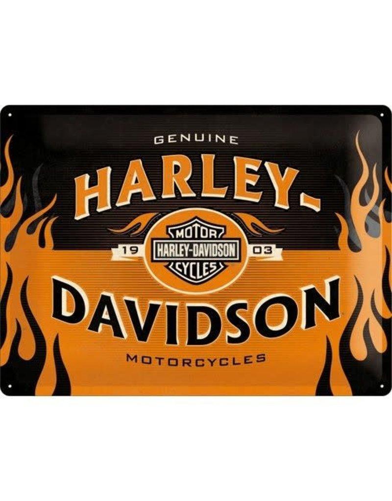 Nostalgic Art sign - Harley Davidson motorcycle (large)