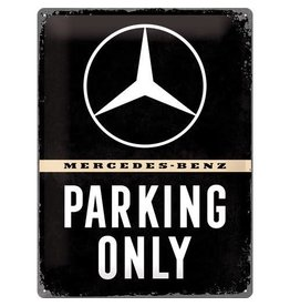 Nostalgic Art bord - Mercedes parking only (large)
