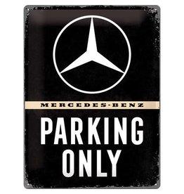 Nostalgic Art sign - Mercedes parking only (large)