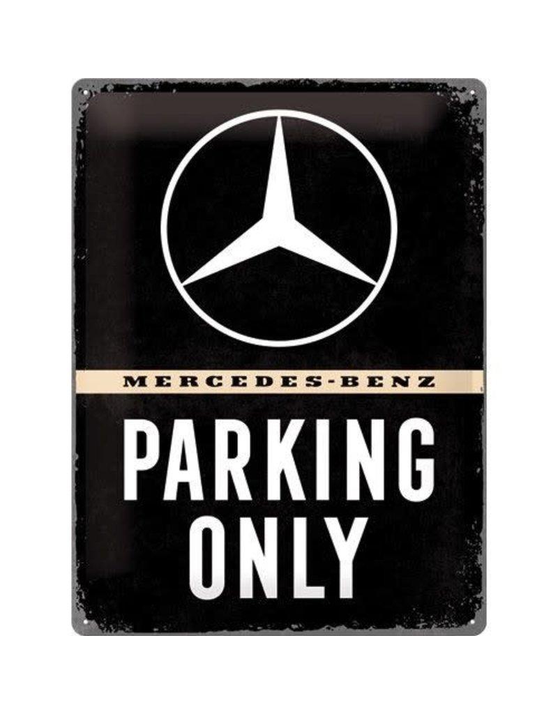 Nostalgic Art bord - Mercedes parking only (large)